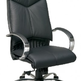 Deluxe High Back Executive Black Leather Chair #8200