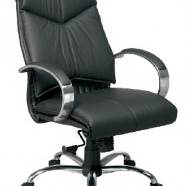 Deluxe Mid Back Executive Black Leather Chair #8201