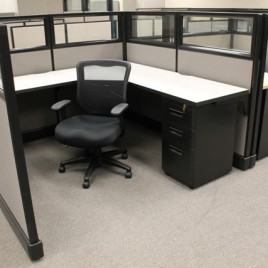 Herman Miller Office Cubicles with Glass