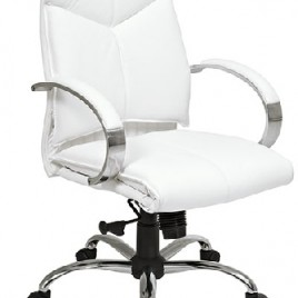 Deluxe High Back Executive White Leather Chair – ProLine 7270
