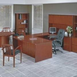 Studio Series Desk Set and Office Furniture-Cherry Finish