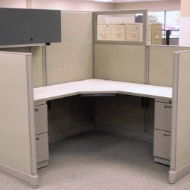 Knoll Office Cubicles with Glass Used