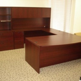 Laminate Desk Mahogany Finish