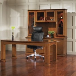 Madison Series Desk Set and Office Furniture- Satin Cherry Finish