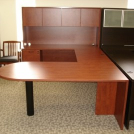 Laminate Desk Cherry Finish
