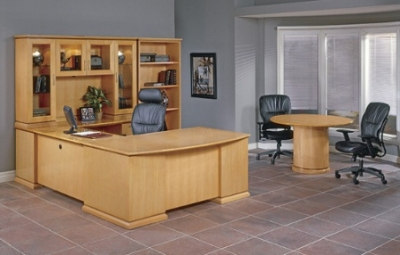 Madison Series Desk Set and Office Furniture- Maple Finish