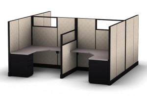 Office Cubicles with Glass